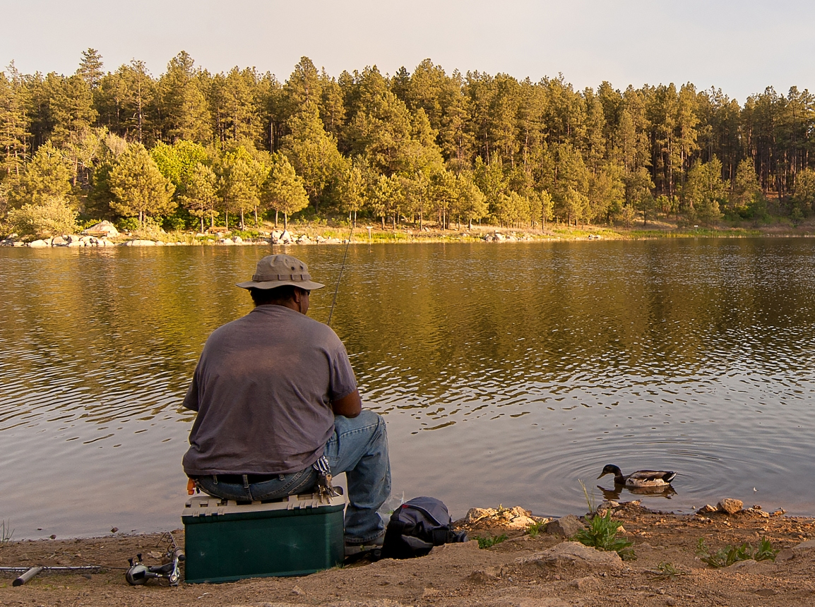 Fishing at Goldwater Lake